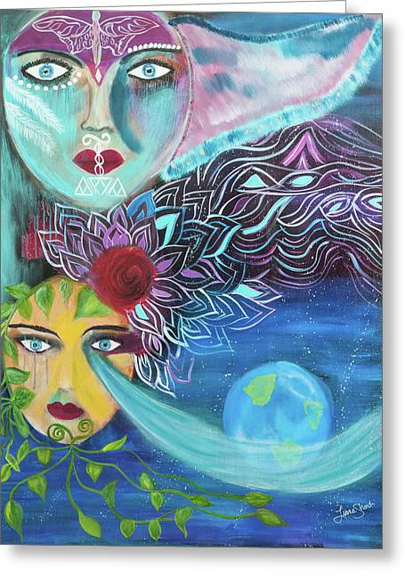 Radiant Ascension Greeting Card
