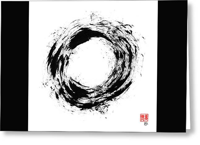 Radiant Light Enso Greeting Card