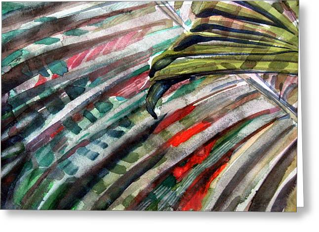 Radiant Palms Greeting Card by Mindy Newman
