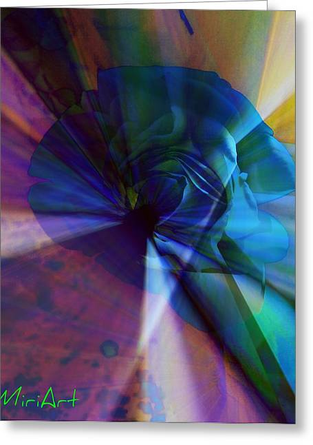 Radiating Light Greeting Card by Miriam Shaw