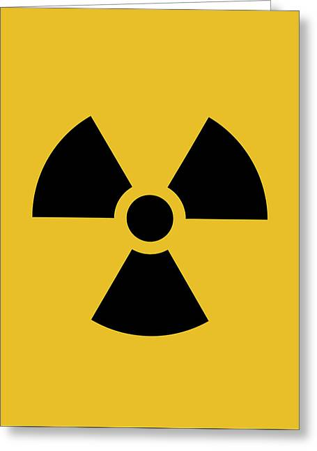 Radiation Hazard Symbol Greeting Card by War Is Hell Store