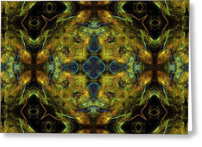 Radiation Of Medusa's Galaxy Mandala 24 Greeting Card