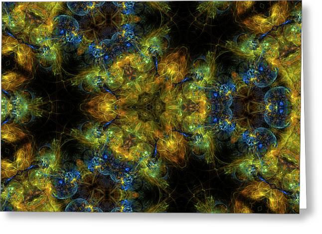 Radiation Of Medusa's Galaxy Mandala 6 Greeting Card