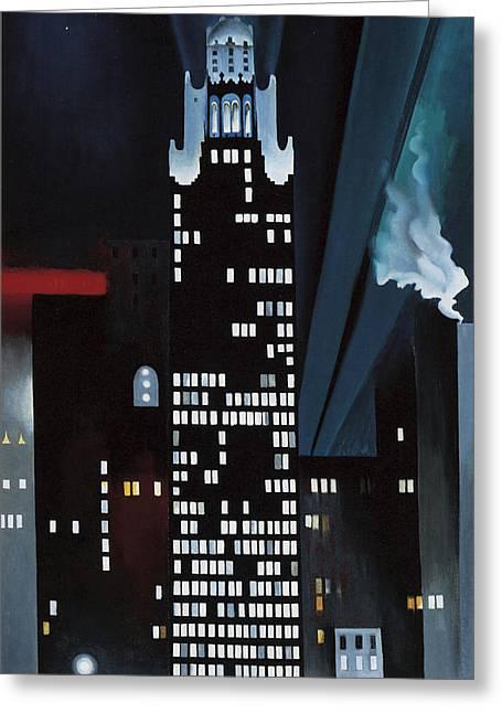 Radiator Building Night  New York Greeting Card by Georgia O Keeffe