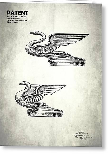 Radiator Cap Patent 1931 Greeting Card by Mark Rogan