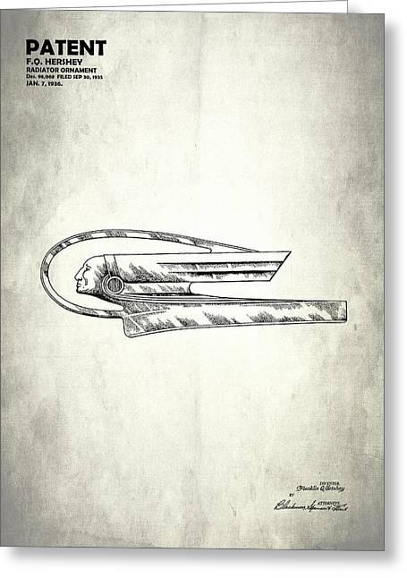 Radiator Ornament Patent 1935 Greeting Card by Mark Rogan