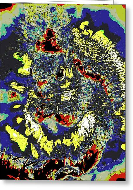 Radical Rodent Greeting Card by DigiArt Diaries by Vicky B Fuller
