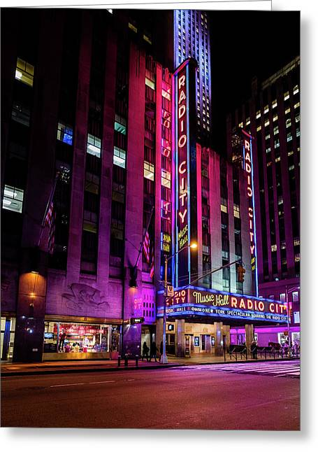 Greeting Card featuring the photograph Radio City Music Hall by M G Whittingham