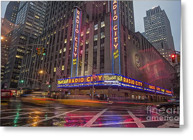 Greeting Card featuring the photograph Radio City New York  by Juergen Held