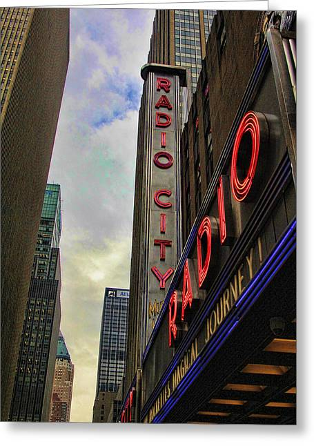 Chuck Kuhn Greeting Cards - Radio City NY Greeting Card by Chuck Kuhn