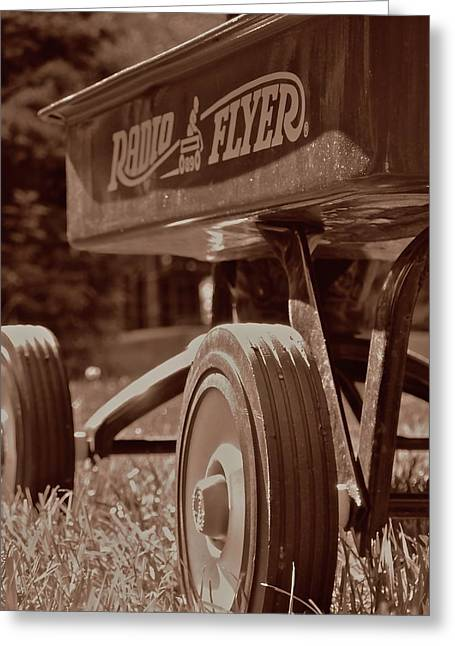 Radio Flyer Greeting Card by Howard Rose