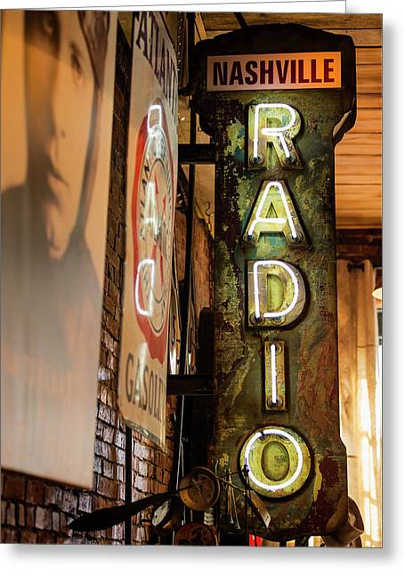Radio Nashville Sign Greeting Card