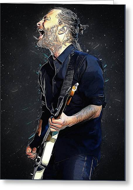 Radiohead - Thom Yorke Greeting Card