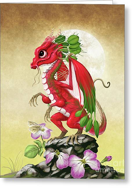 Radish Dragon Greeting Card by Stanley Morrison
