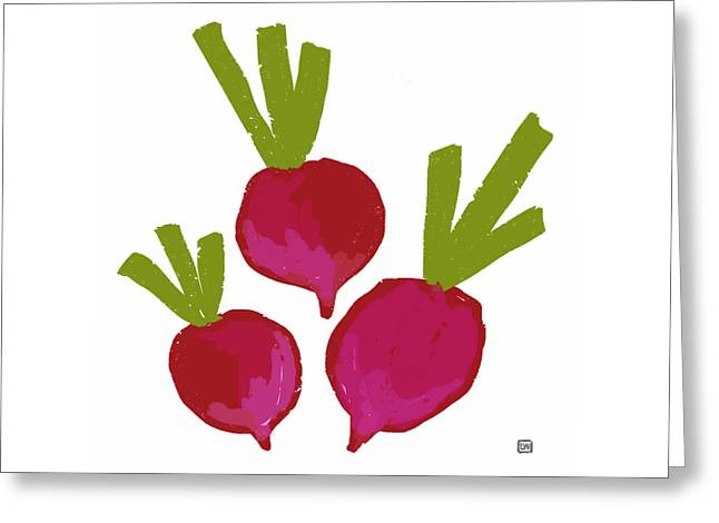Radish Greeting Card