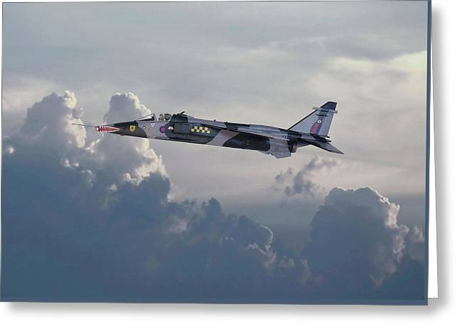 Greeting Card featuring the photograph Raf Jaguar Gr1 by Pat Speirs