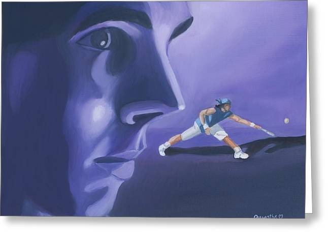 Rafael Nadal Greeting Card by Quwatha Valentine