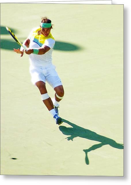 Rafael Nadal Shadow Play Greeting Card