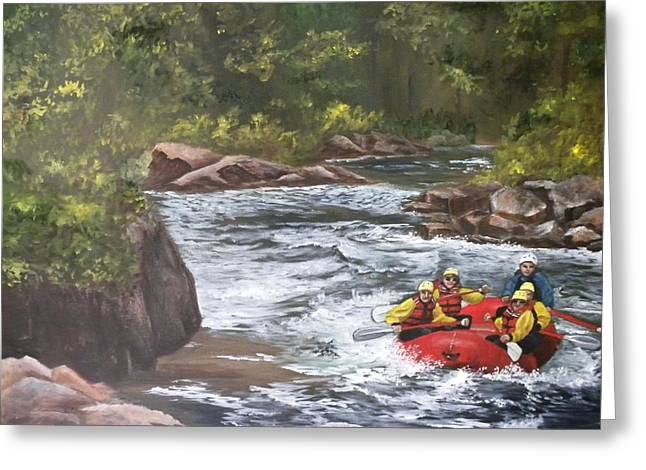 Rafting In Colorado Greeting Card