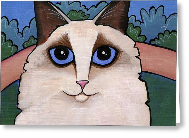 Ragdoll Cat Greeting Card by Leanne Wilkes