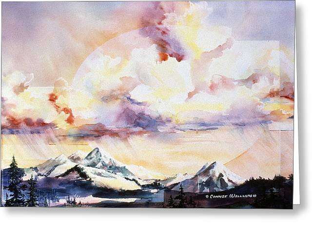 Ragged Mountains Sunset Greeting Card