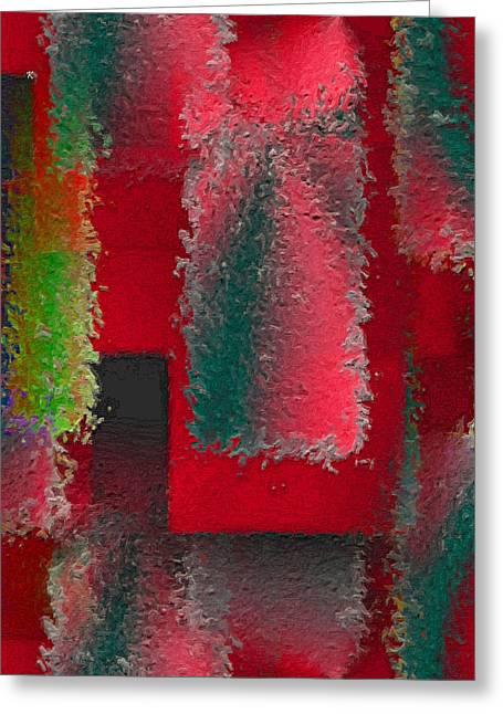 Raggedy Red Greeting Card by John Krakora