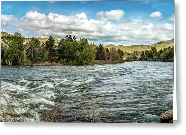 Raging Payette River Greeting Card by Robert Bales