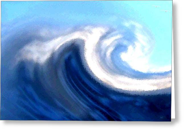 Raging Sea Greeting Card by Will Borden