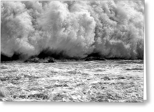 Raging Water Greeting Card by Olivier Le Queinec