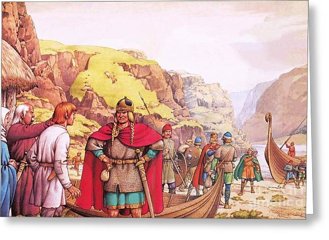 Ragnor Lodbrok, One Of The First Vikings To Raid Britain Greeting Card