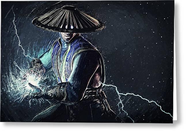 Raiden - Mortal Kombat Greeting Card by Taylan Apukovska