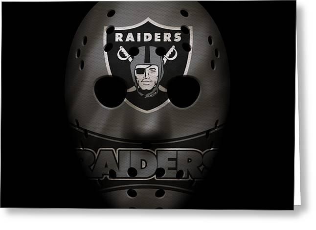 Raiders War Mask 2 Greeting Card