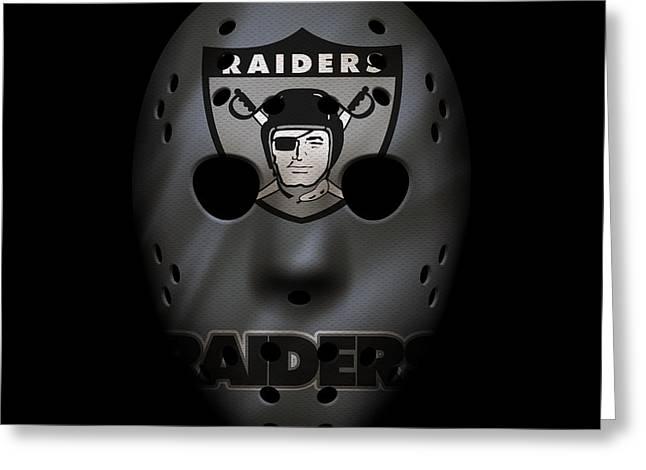 Raiders War Mask Greeting Card