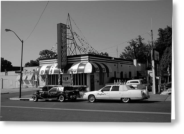Greeting Card featuring the photograph Raifords Disco Memphis A Bw by Mark Czerniec