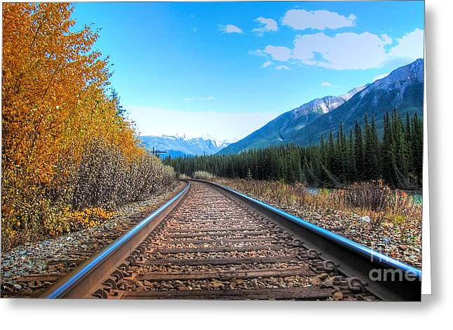 Will Cardoso Greeting Cards - Rail Road of Life Greeting Card by Will Cardoso