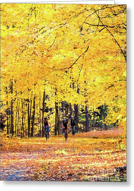 Autumn Glory On The Rail Trail Greeting Card