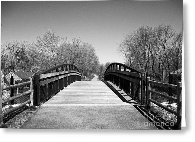 Rail Trail Bridge, Newburyport, Massachusetts Greeting Card
