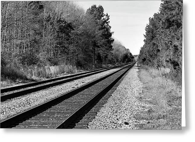 Railroad 8x8 Greeting Card by Skip Willits