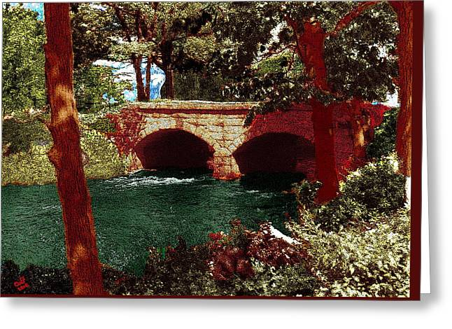 Railroad Bridge Greeting Card by Cliff Wilson