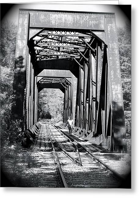 Greeting Card featuring the photograph Railroad Bridge by Robin Regan