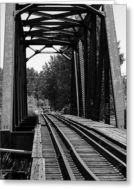 Railroad Bridge Greeting Card by Sonja Anderson