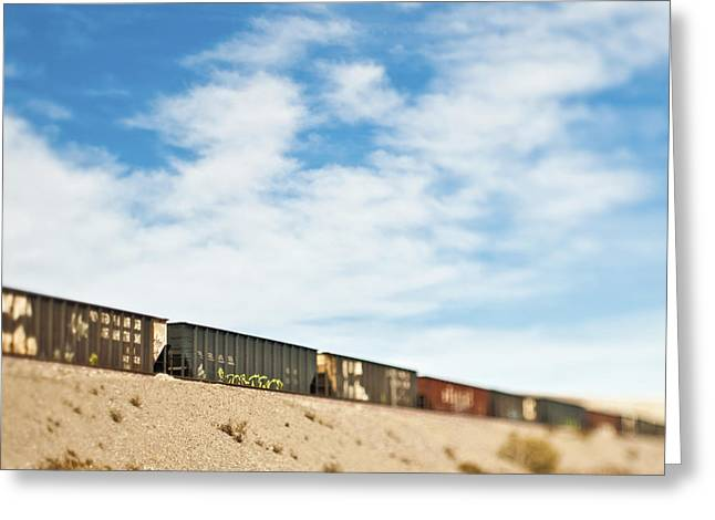 Railroad Cars Greeting Card by Eddy Joaquim