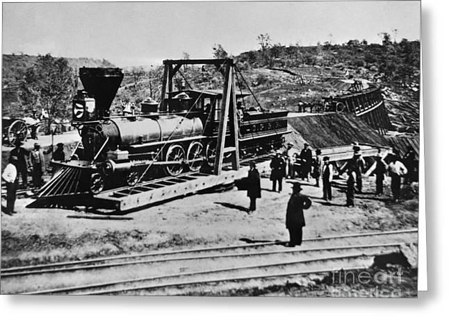 Railroad Construction, Topeka 1870 Greeting Card by Omikron