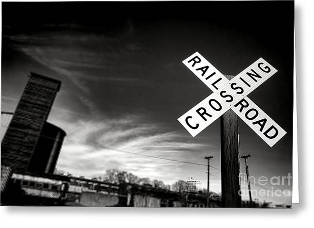 Railroad Crossing Greeting Card by Olivier Le Queinec