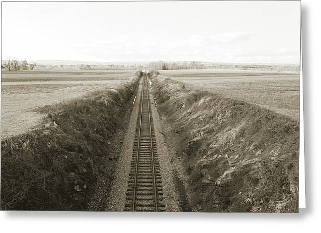 Railroad Cut, West Of Gettysburg Greeting Card by Jan W Faul