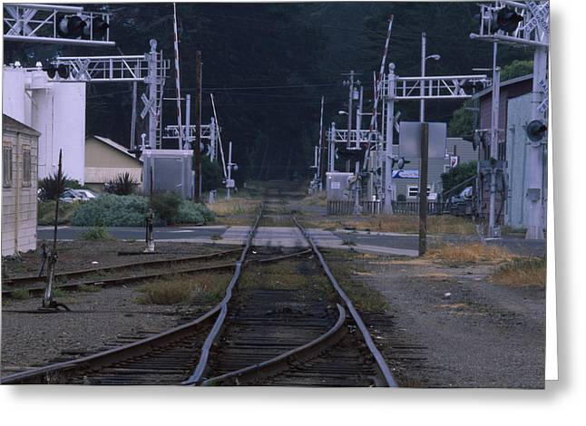 Railroad - Fort Bragg California Greeting Card by Soli Deo Gloria Wilderness And Wildlife Photography