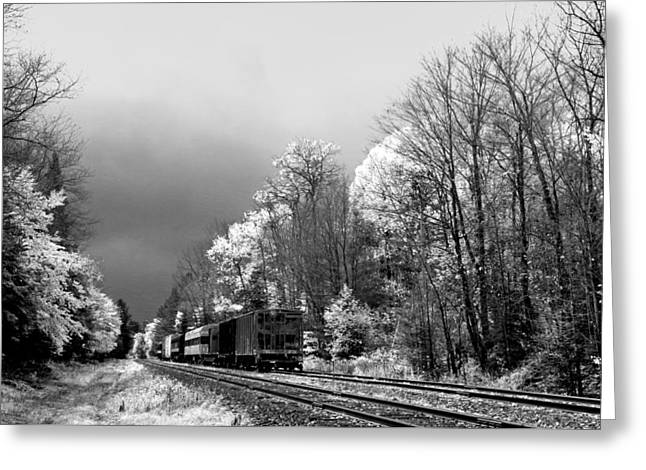 Railroad Landscape Greeting Card by David Patterson