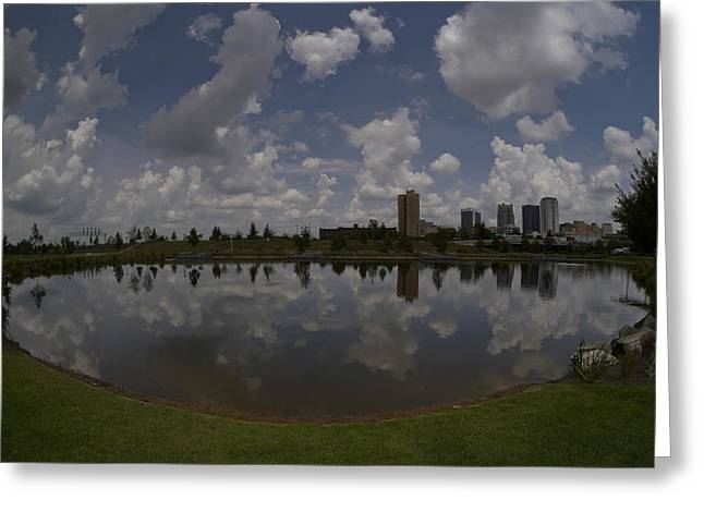 Railroad Park Reflection Greeting Card