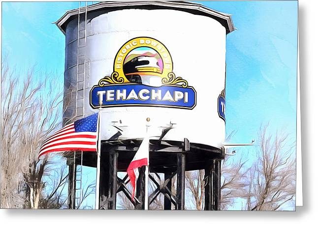 Greeting Card featuring the photograph Railroad Park Tehachapi California Detail by Floyd Snyder