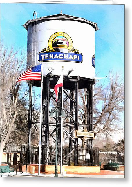 Greeting Card featuring the photograph Railroad Park Tehachapi California by Floyd Snyder